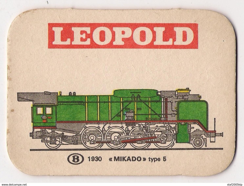 Bierviltje - LEOPOLD - Trein - 1930 MIKADO Type 5 - Sous-bocks