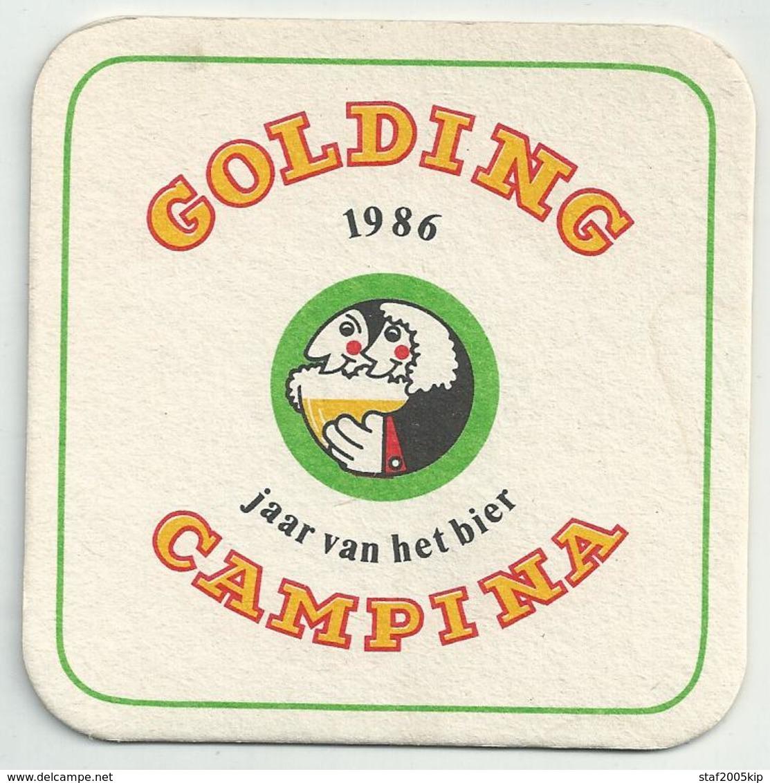 Bierviltje - Golding CAMPINA 1986 Jaar Van Het Bier - Sous-bocks