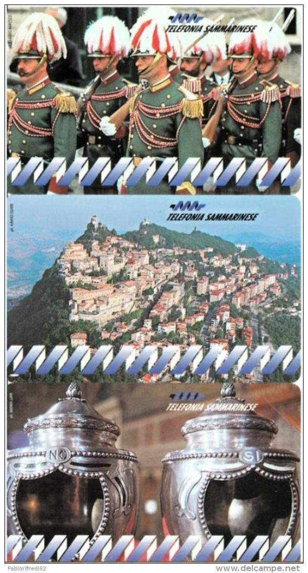 SERIE SCHEDE TELEFONICHE NUOVE RSM 1-3 SERIE STORICA - San Marino