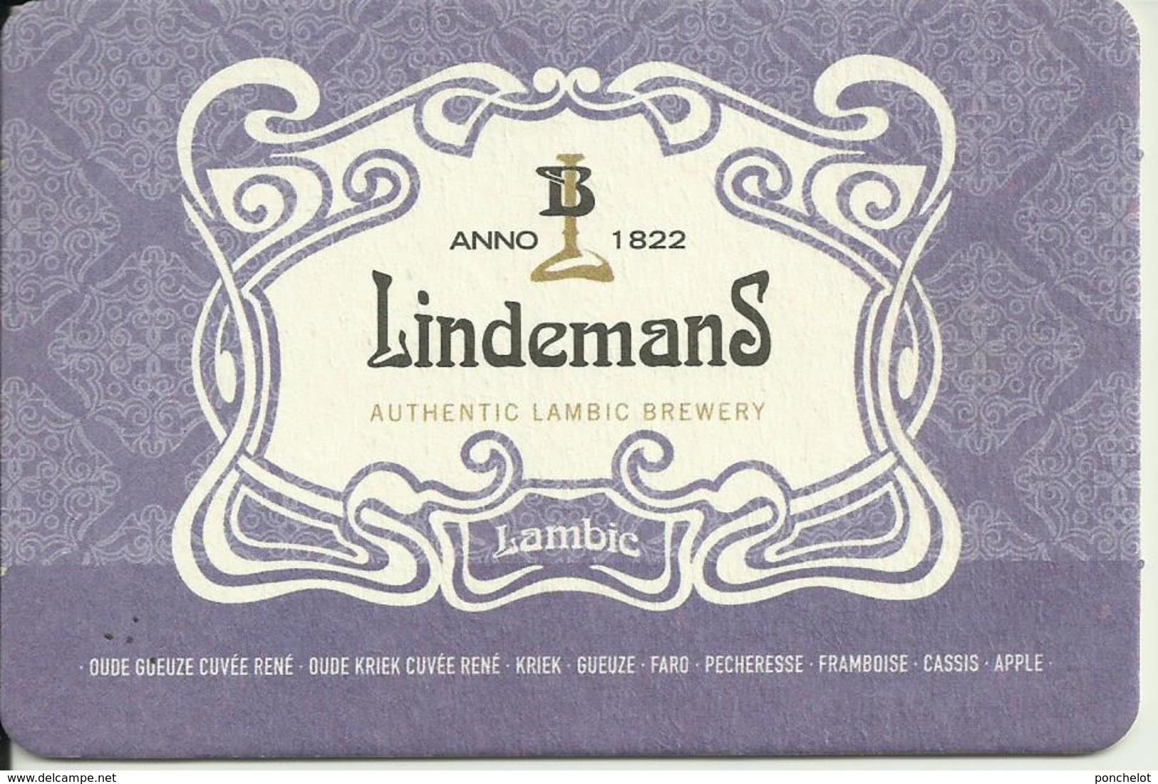 SB LINDEMANS LAMBIC Mauve - Sous-bocks