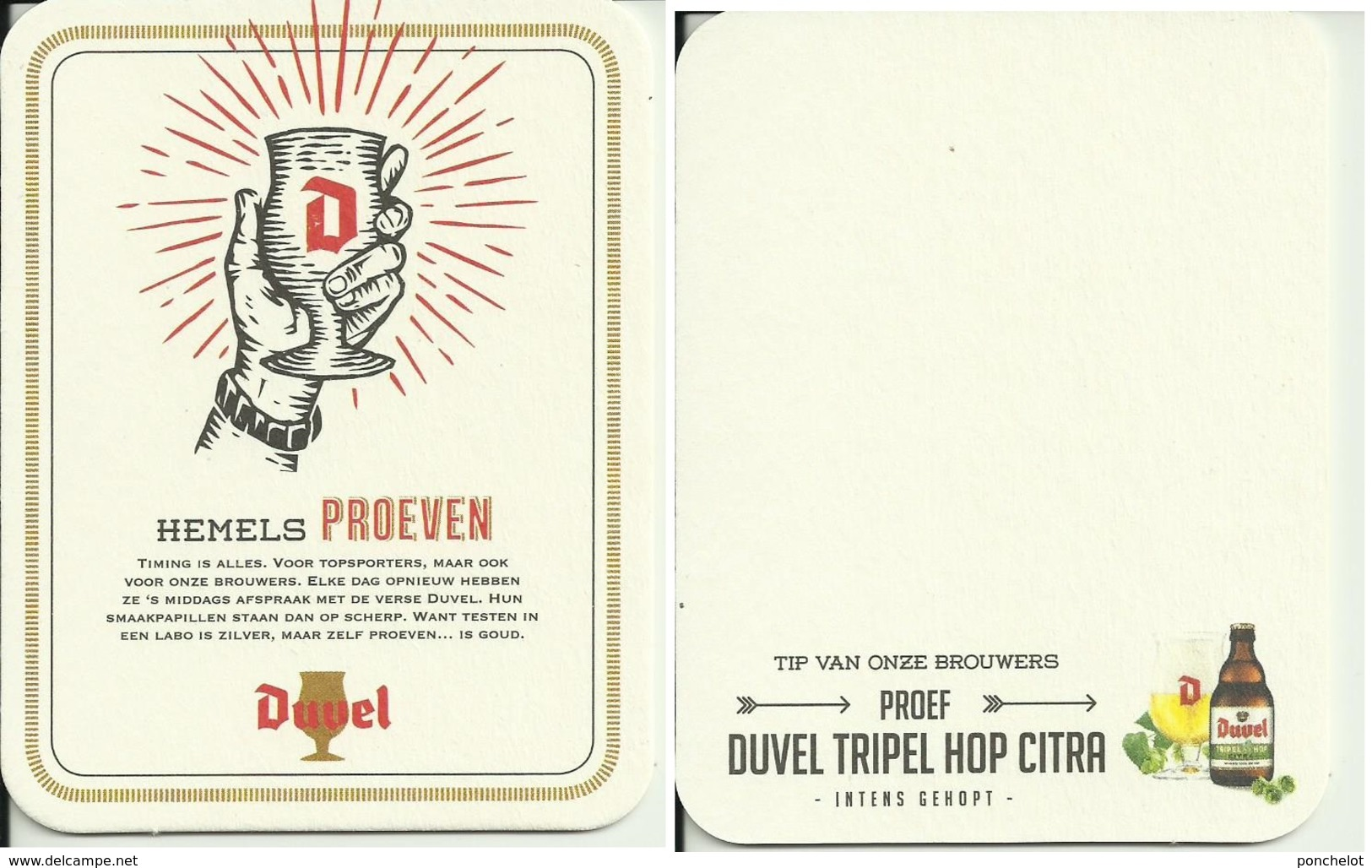 SB DUVEL Hemels Proeven - Sous-bocks