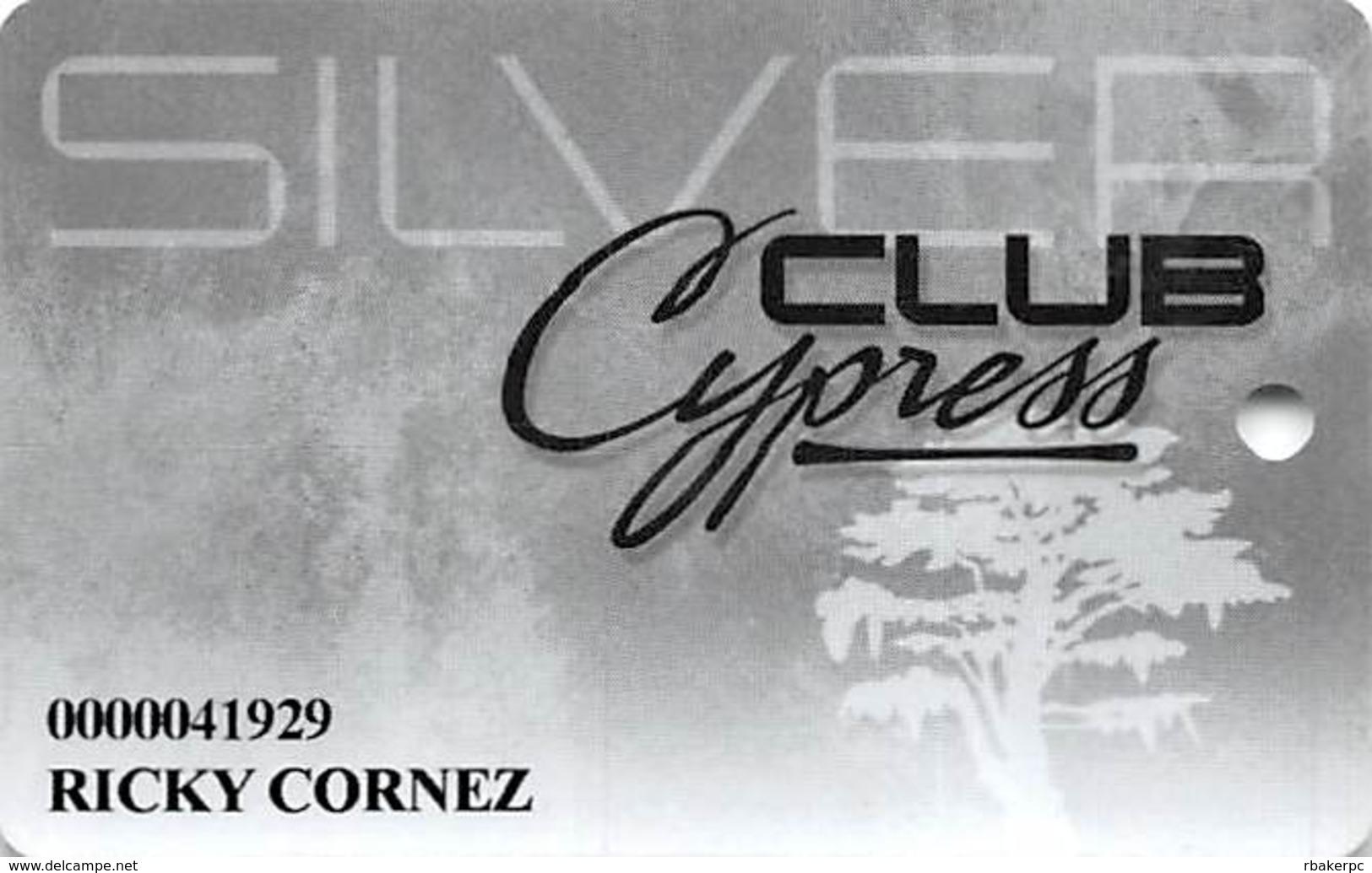 Cypress Bayou Casino - Charenton, LA - Slot Card - Casino Cards