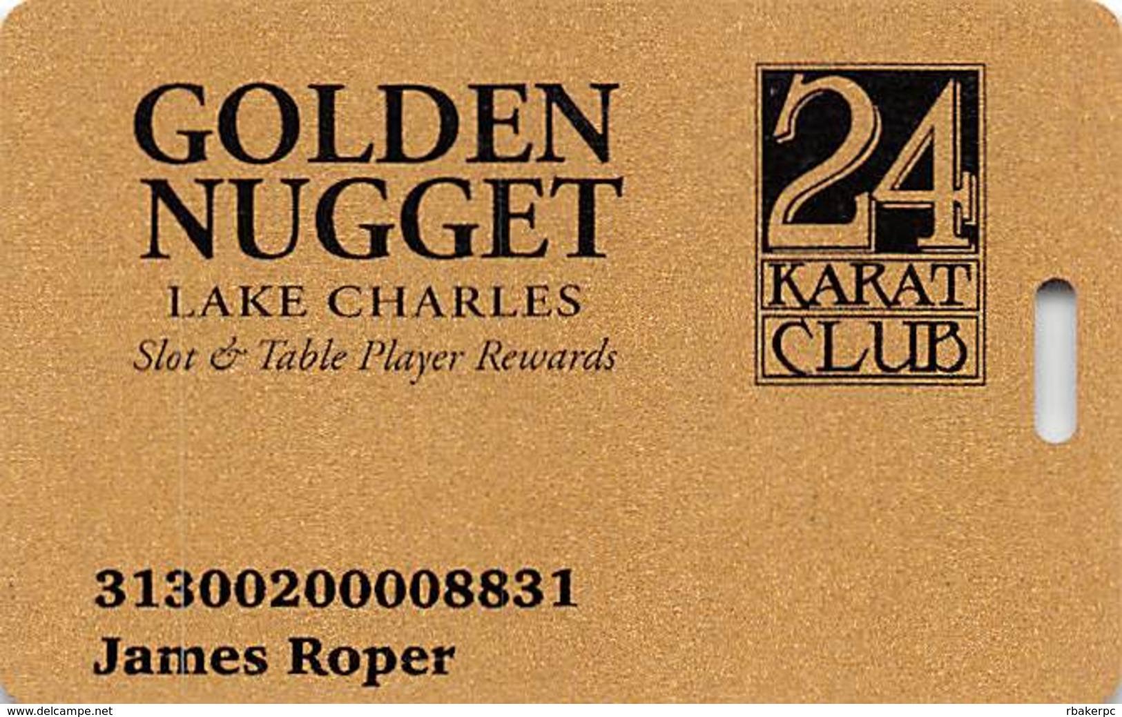 Golden Nugget Casino - Lake Charles LA - Slot Card - Casino Cards