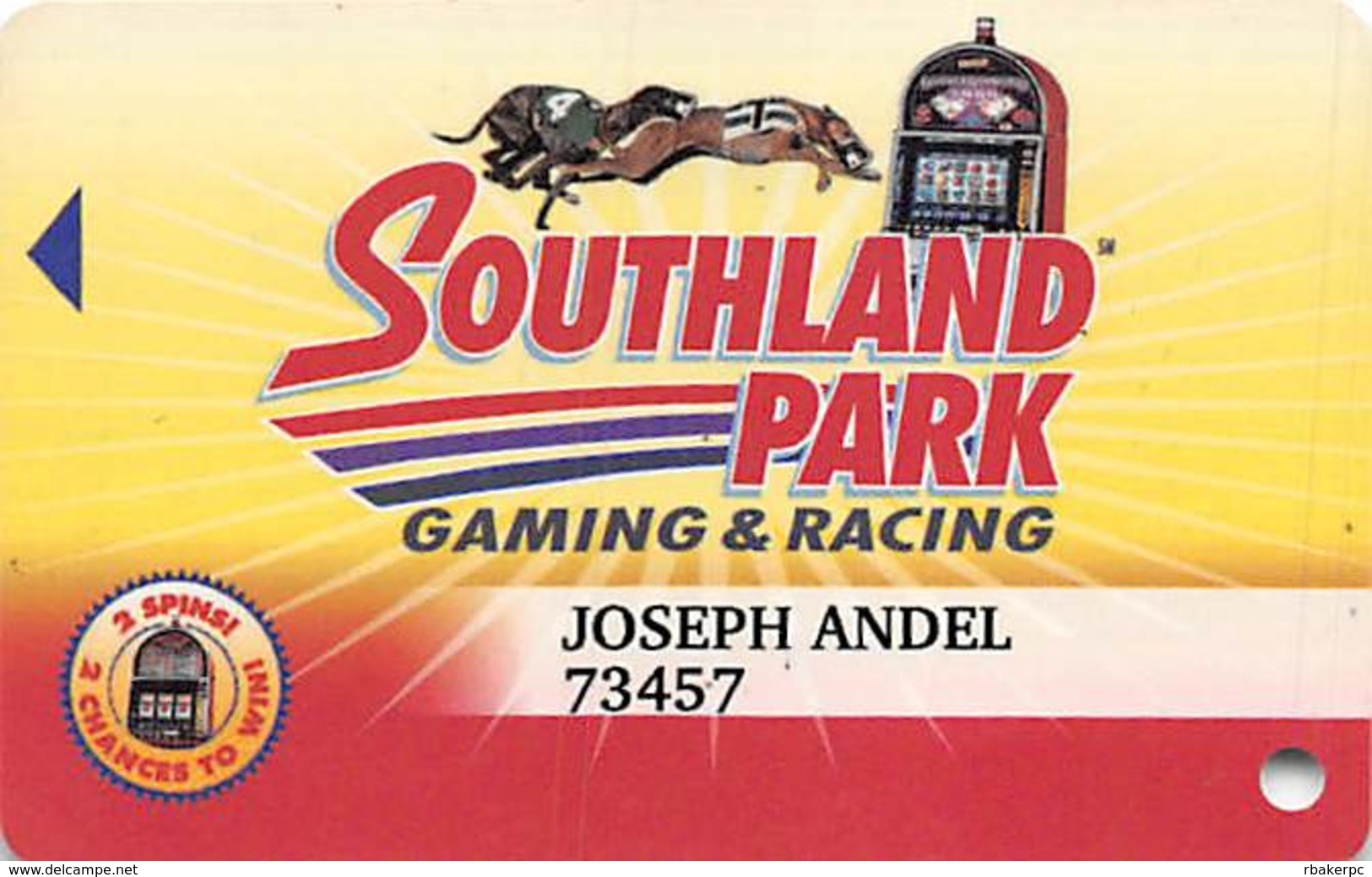Southland Park Gaming - W. Memphis, AR - Slot Card - Casino Cards