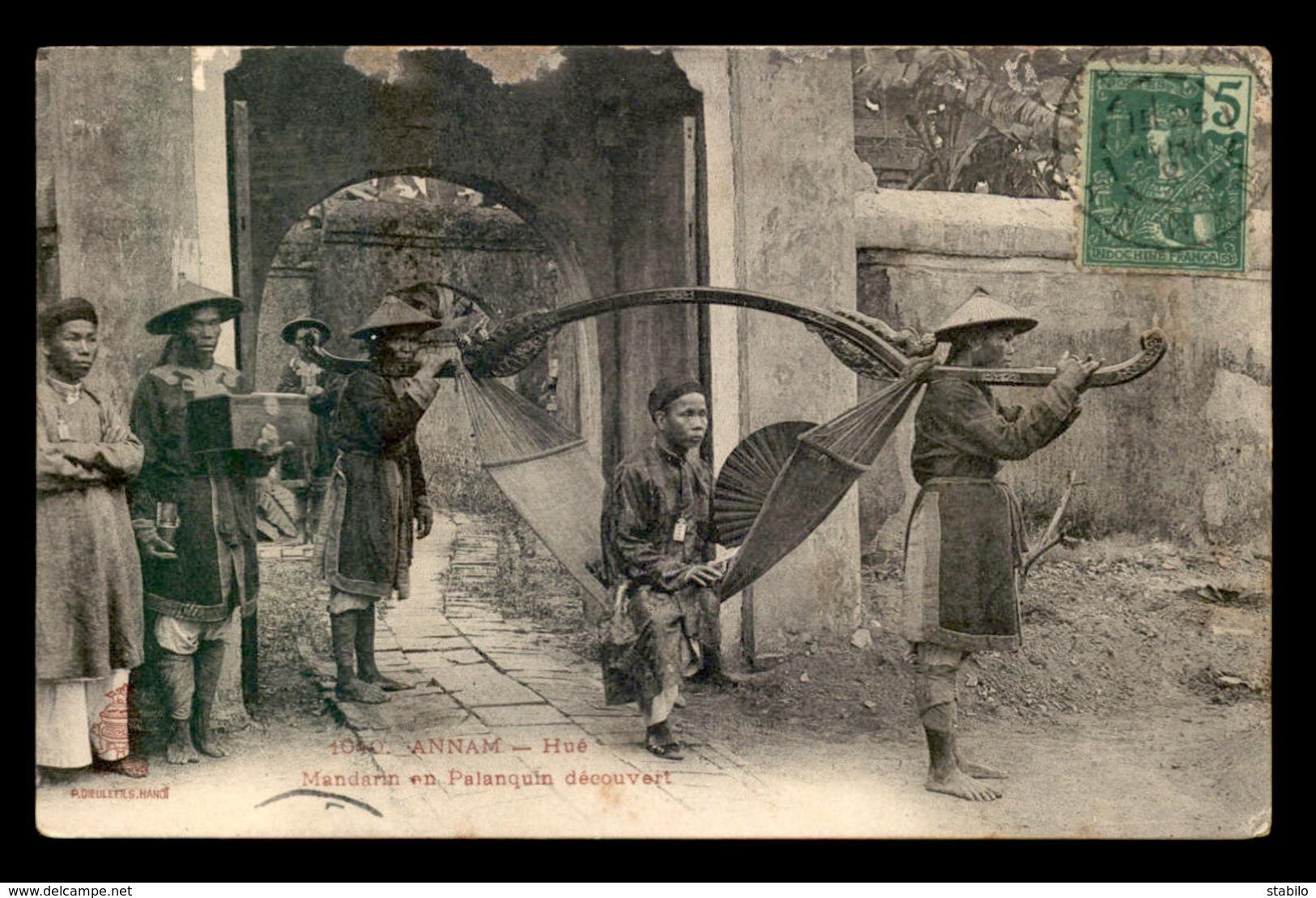 VIET-NAM - ANNAM - HUE - MANDARIN EN PALANQUIN DECOUVERT - EDITEUR DIEULEFILS - Vietnam