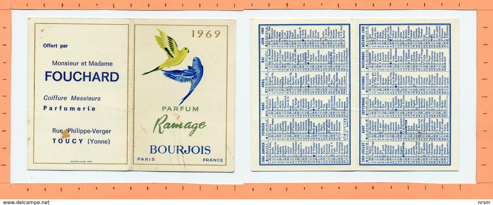 Petit Calendrier 1969 / Parfums Bourjois / Ramage - Calendriers