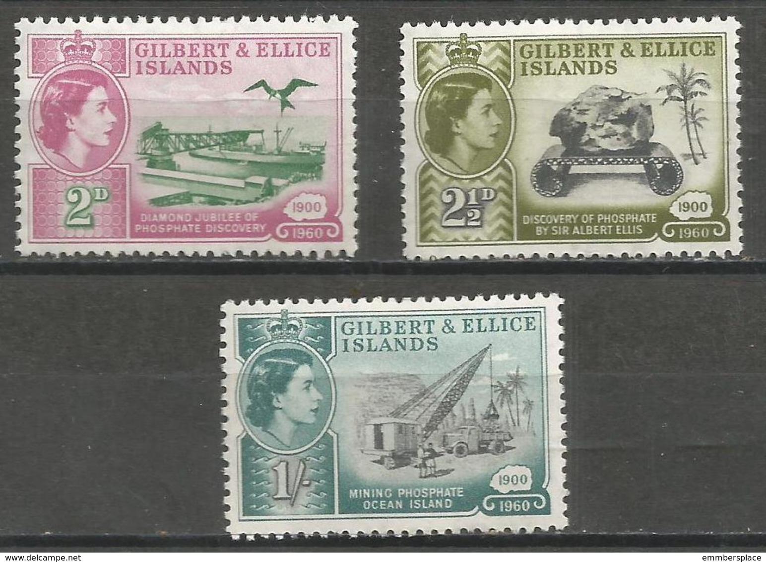 Giilbert & Ellice Is. - 1960 Phosphate Mining MH * - Gilbert & Ellice Islands (...-1979)