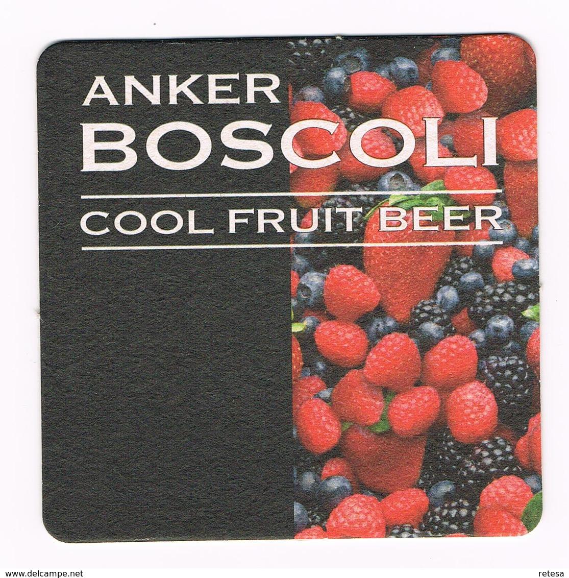 BELGIE  BIERVILTJE  ANKER BOSCOLI  COOL FRUIT BEER - Sous-bocks