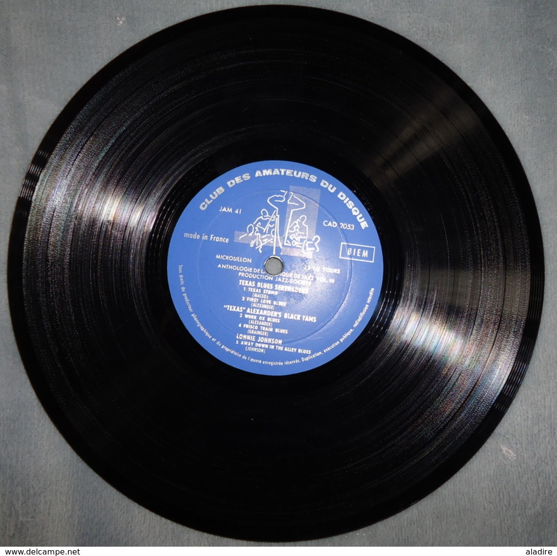 A REAL BLUES ALBUM -  Texas Blues Serenaders... Panorama Du Jazz - Club Des Amateurs Du Disque - Années 1950 - Jazz