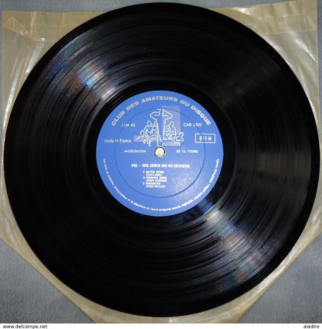 PEE WEE ERWIN & His Orchestra - Panorama Du Jazz - Club Des Amateurs Du Disque - Années 1950 - Jazz