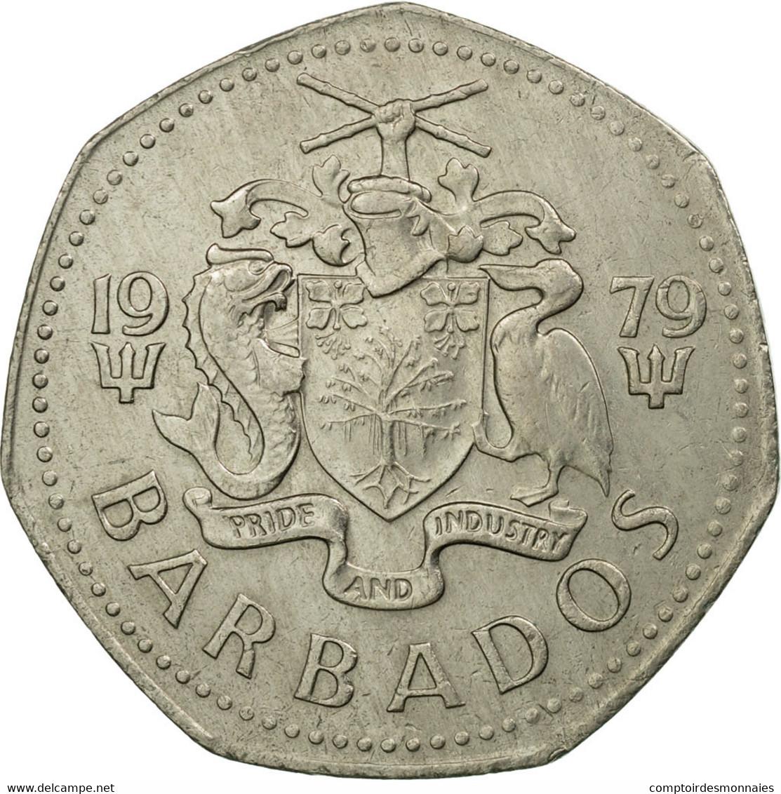 Monnaie, Barbados, Dollar, 1979, Franklin Mint, TTB, Copper-nickel, KM:14.1 - Barbades
