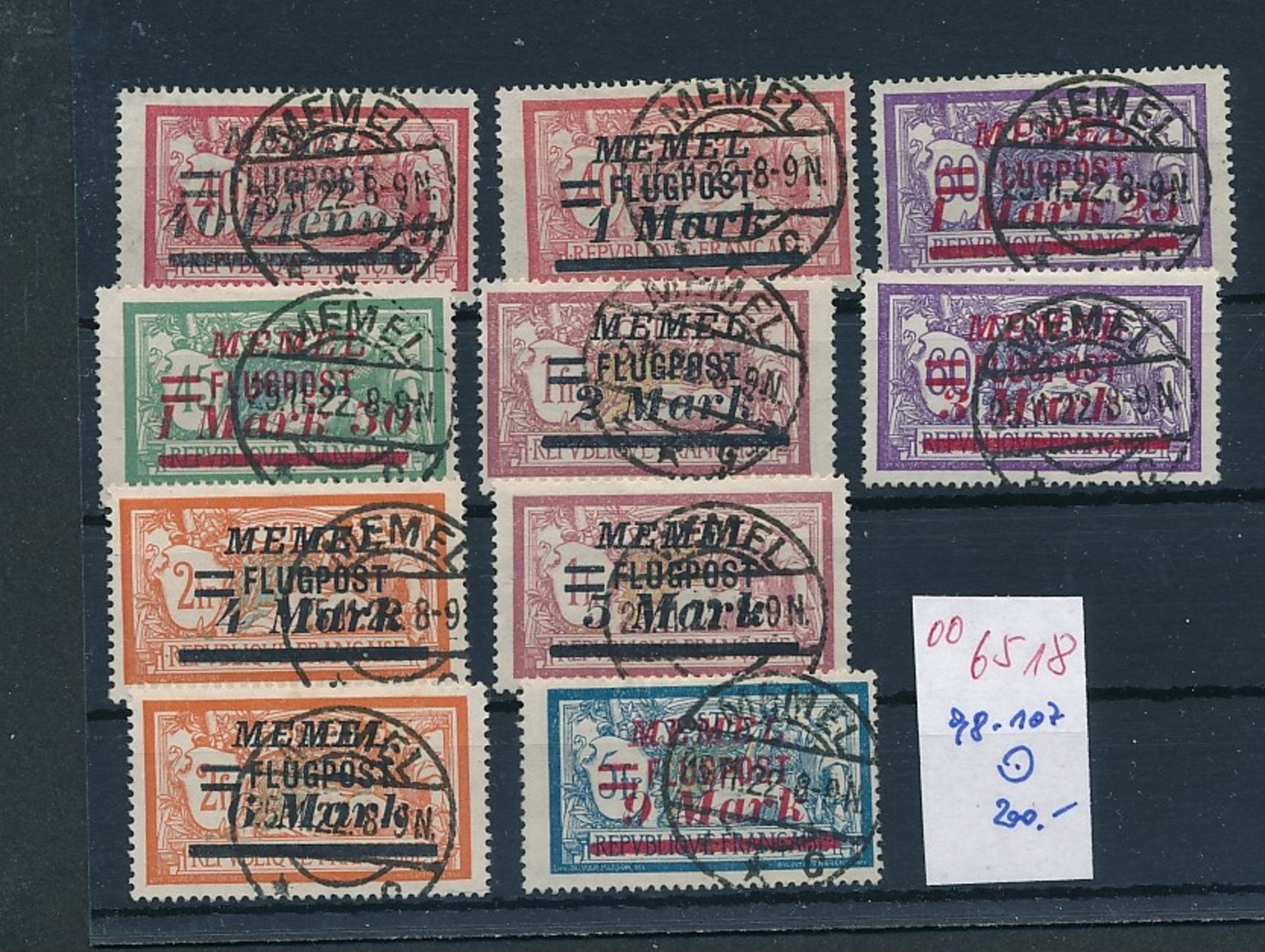 Memel  Nr. 98-107   O     (oo6518  ) Siehe Scan - Klaipeda