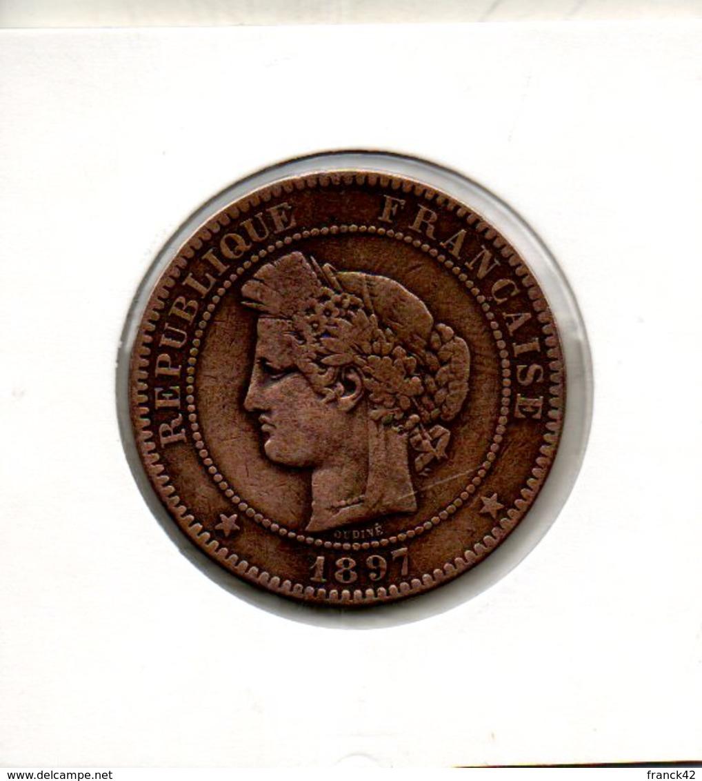 France. 10 Centimes. Ceres. 1897 A Torche - D. 10 Centimes