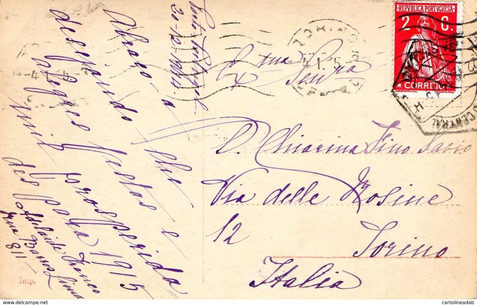 [DC7997] CPA - CANOVA - AMORE E PSICHE - AMOR OG PSYCHE - Viaggiata 1914 - Old Postcard - Sculture