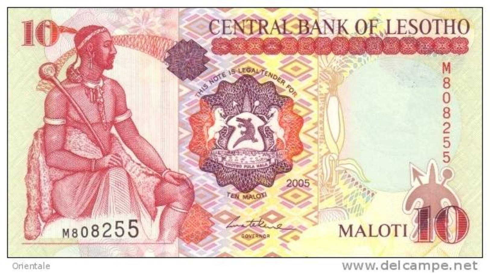 LESOTHO P. 15c  10 M  2005  UNC - Lesotho