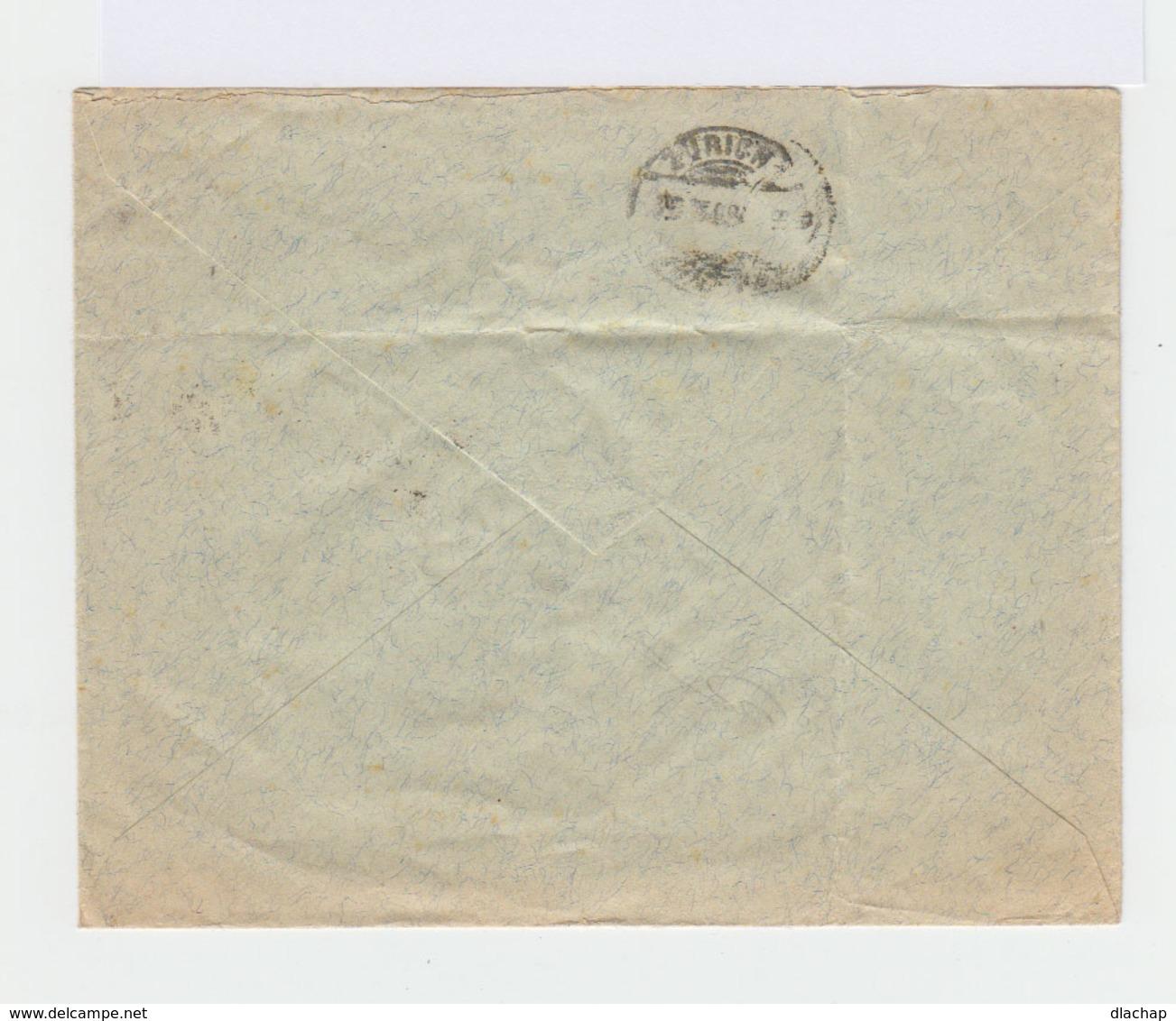 Enveloppe De Suisse. Deux Timbres Walter Teil 5 C. Vert CAD Carouge 1903. Cachet Zurich. (818) - Marcophilie