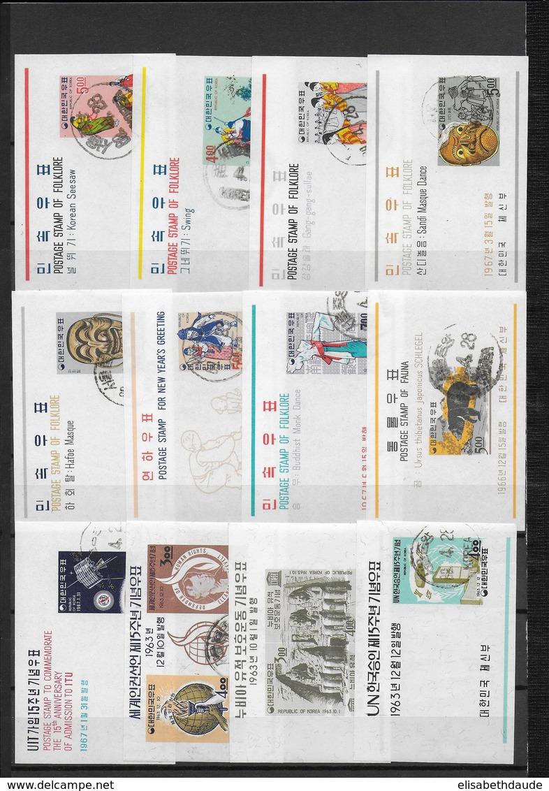 REPUBLIC OF KOREA - 29 BLOCS OBLITERES ANNEES 1963/1967 - COTE YVERT = 250 EUR. - Corée Du Sud