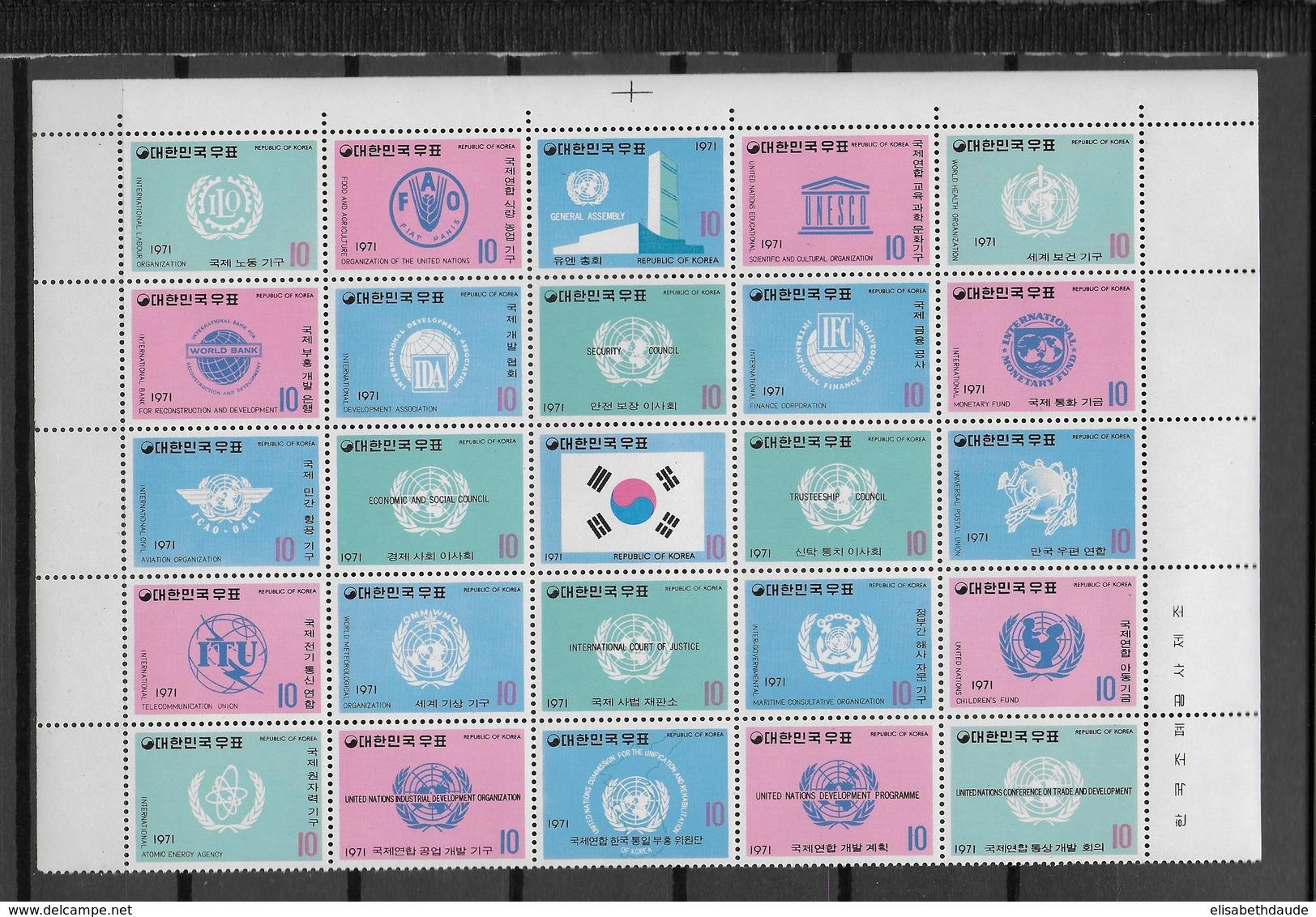 REPUBLIC OF KOREA - YVERT 640/664 ** MNH - COTE = 125 EUR. - Corée Du Sud