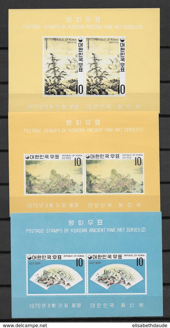REPUBLIC OF KOREA - BLOCS YVERT 181/183 ** MNH - COTE = 20 EUR. - Corée Du Sud