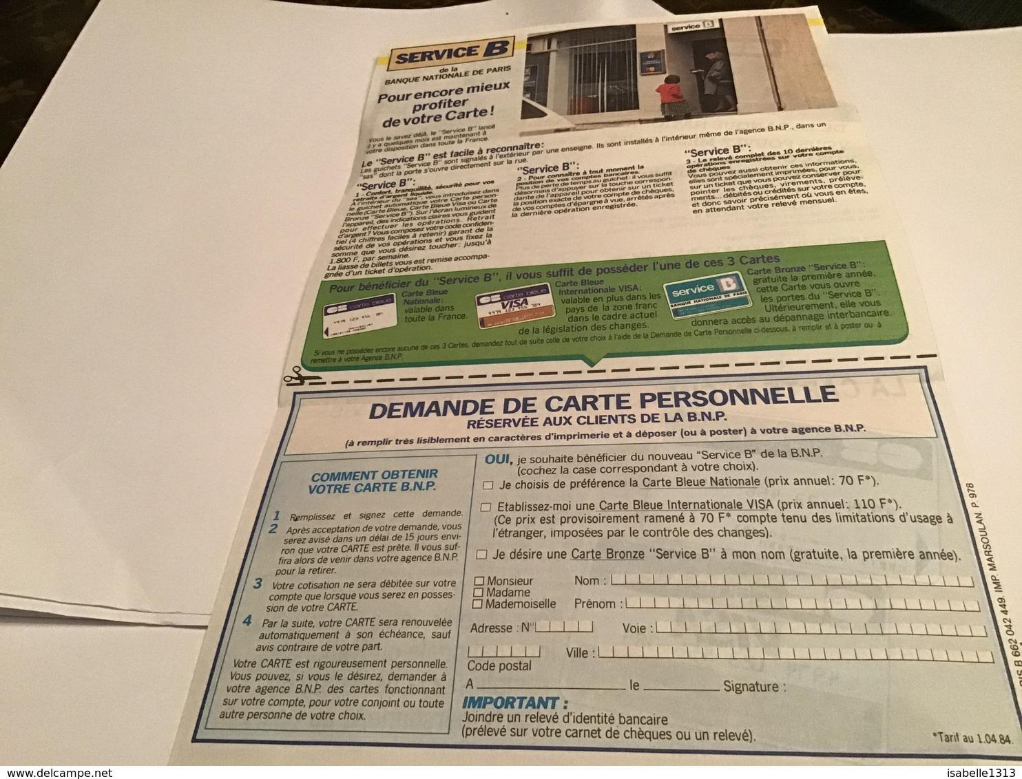 Publicité Carte Bleue Visa Avec La Carte Bleue De La Banque Nationale De Paris Vous Pouvez Même Faire Vos Courses Sans A - Pubblicitari