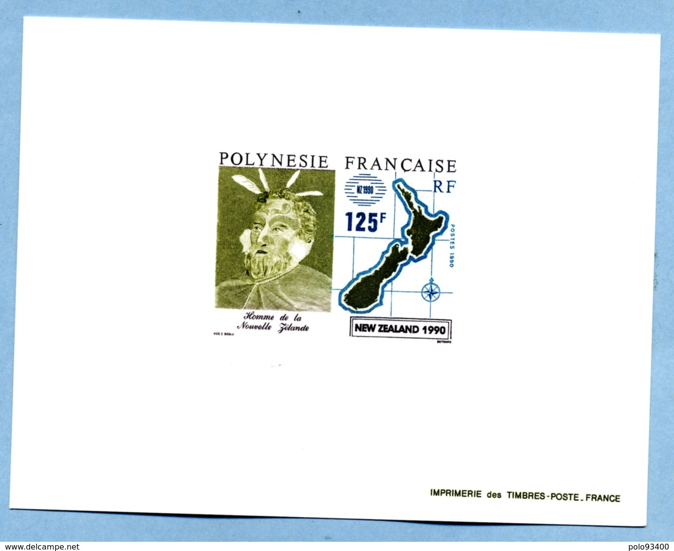 24-08-1990 ÉPREUVE DU 125 F - Polinesia Francesa