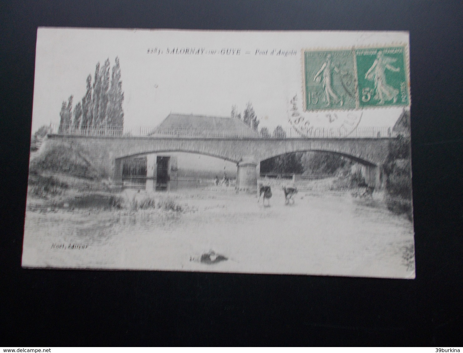 SALORNAY-sur-GUYE Pont D'Angoin 1921 - Other Municipalities