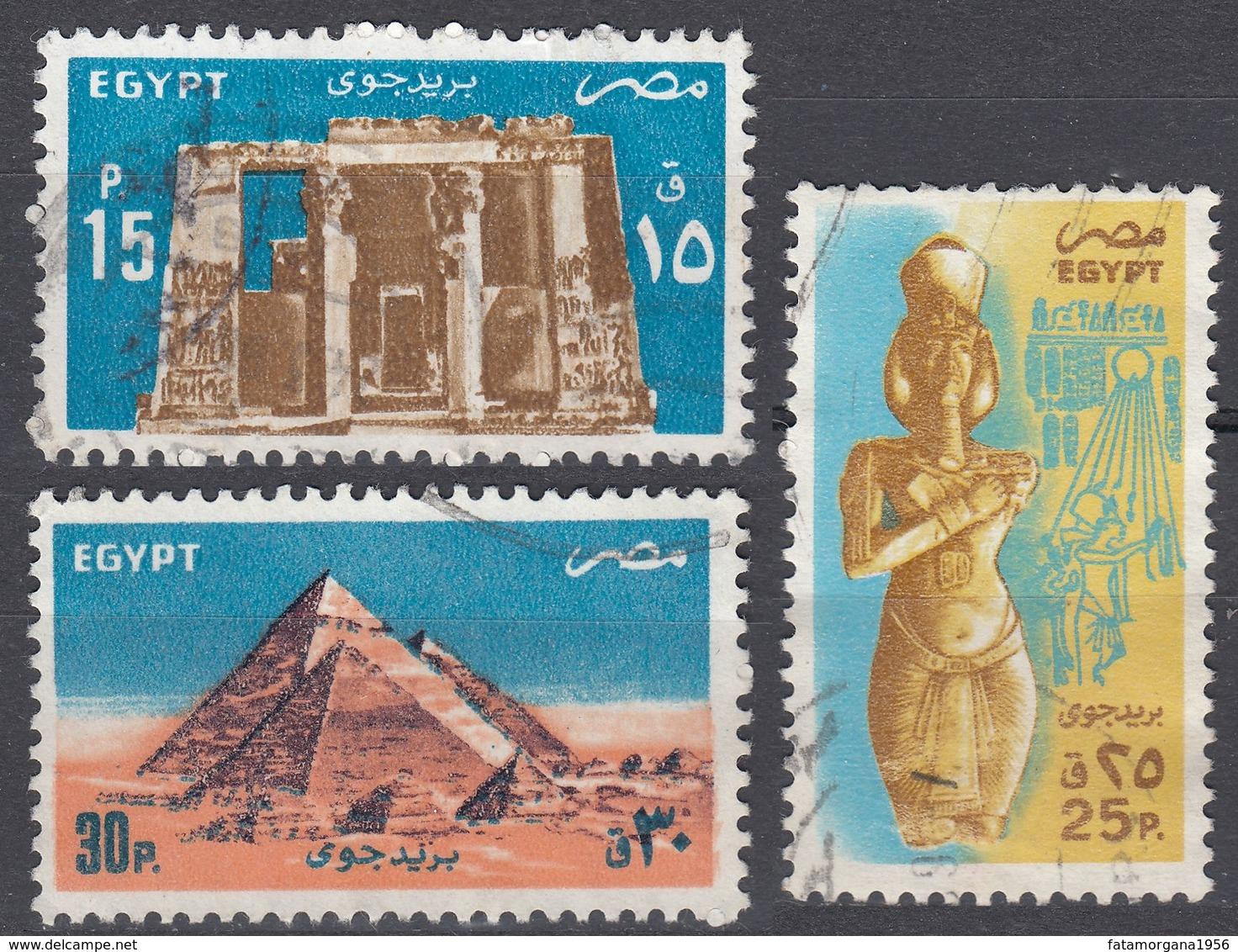 EGITTO - 1985 - Serie Completa Usata: Yvert Posta Aerea 171/173 Per Complessivi 3 Valori. - Posta Aerea
