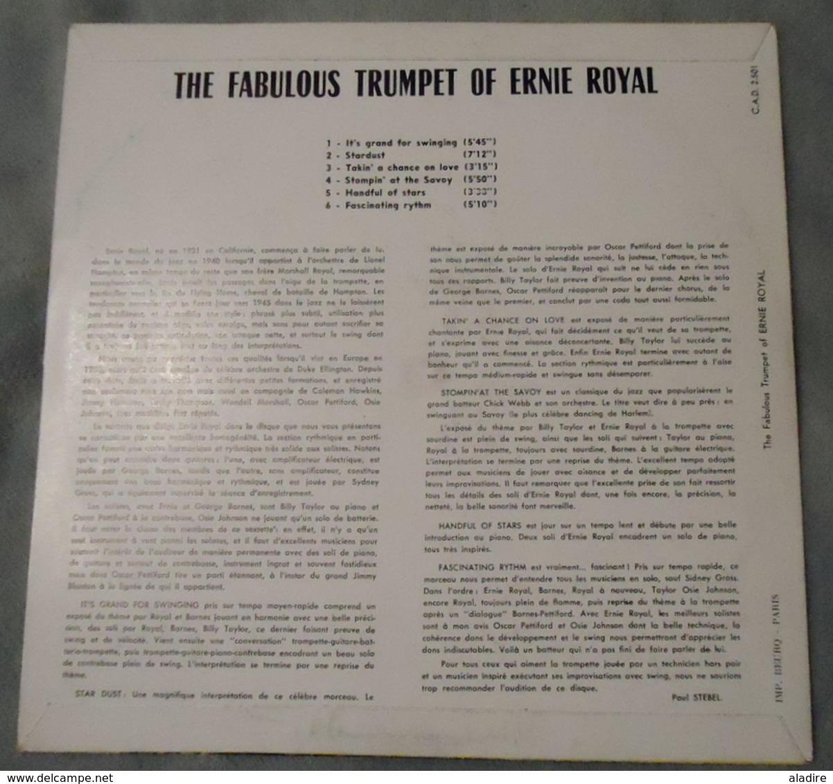 THE FABULOUS TRUMPET OF ERNIE ROYAL - Panorama Du Jazz - Club Des Amateurs Du Disque - Années 1950 - - Jazz