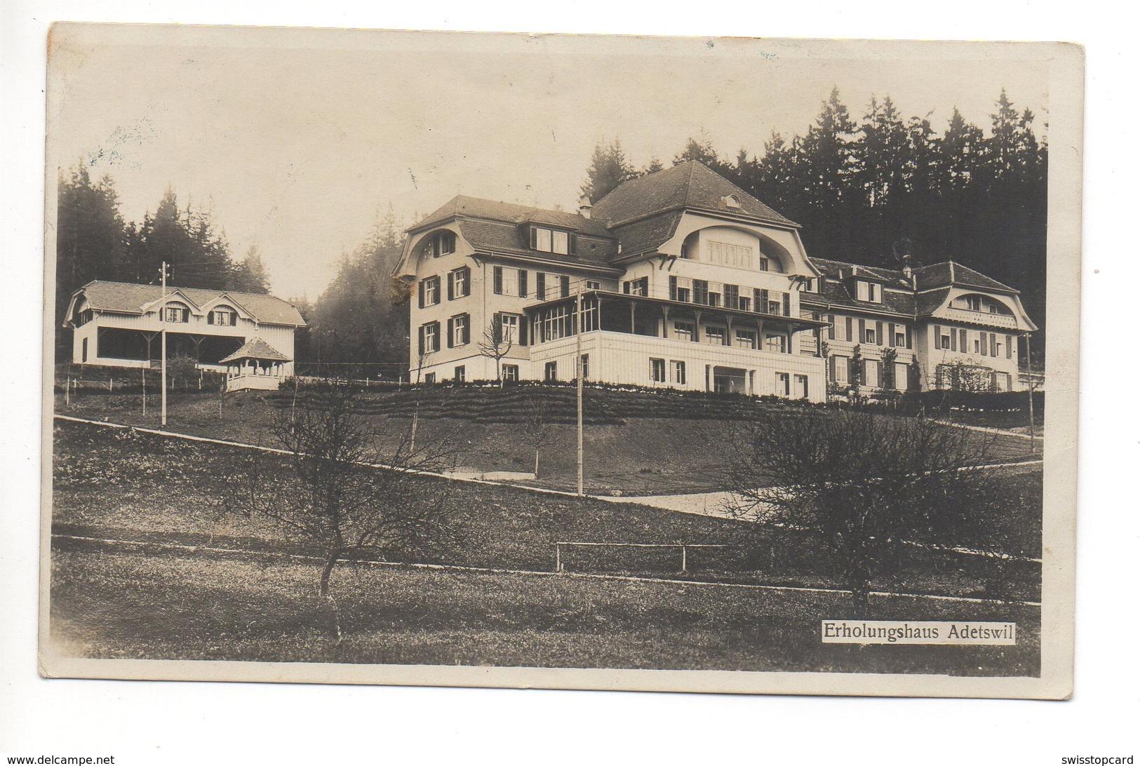 ADETSWIL Erholungshaus Gel. 1921 V. Bäretswil N. Wald - ZH Zurich