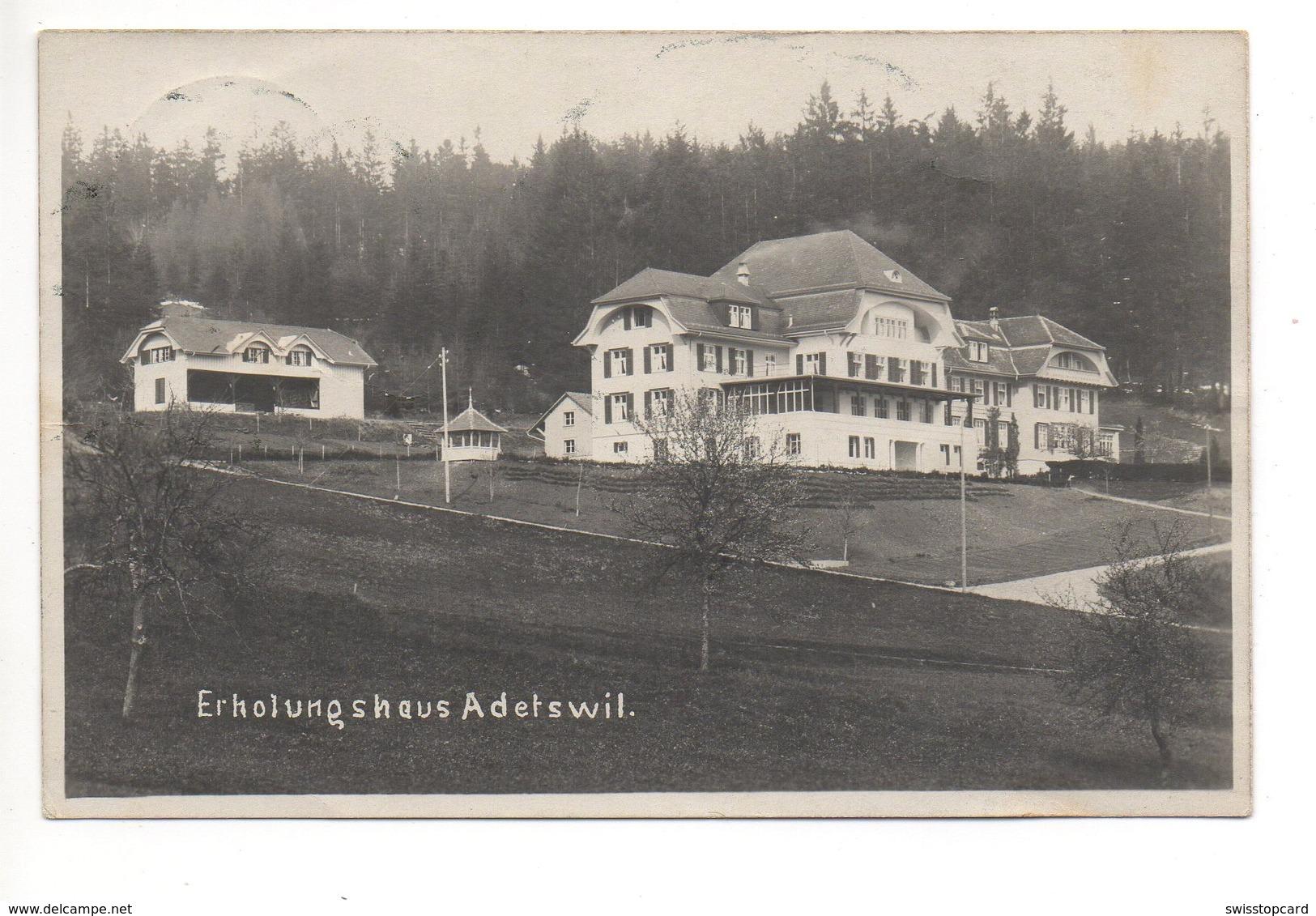 ADETSWIL Erholungshaus Gel. 1921 N. Wald - ZH Zurich