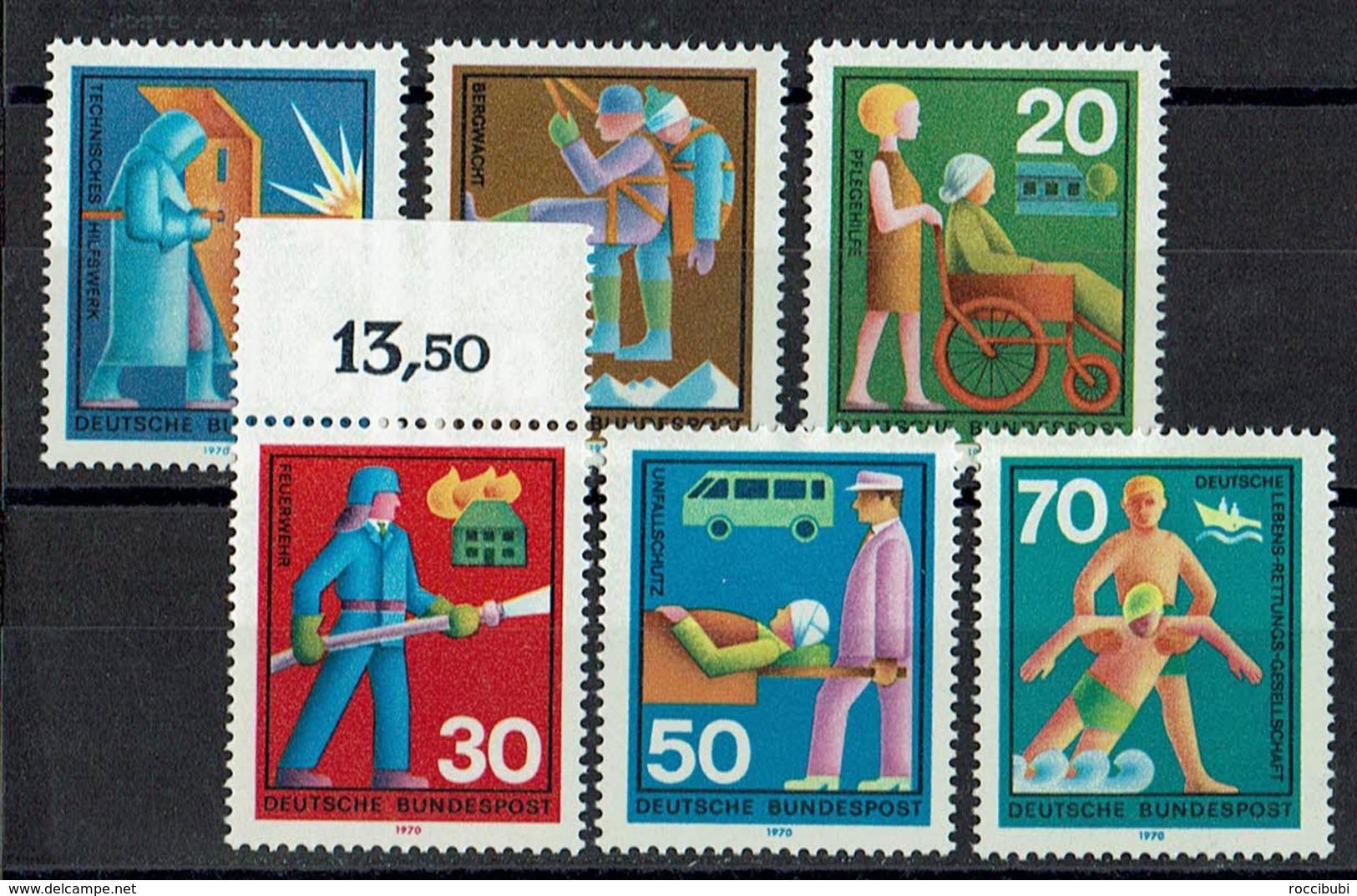 BRD 1970 // Mi. 629/634 ** (M.030..517) - Berufe