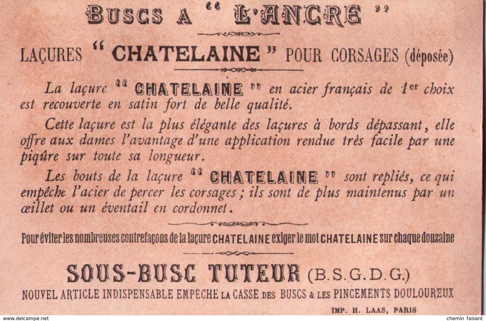 Chromo Buscs à L'ANCRE, Laçures CHATELAINE - Une Aubade...   - Scans  Recto-verso - Chromos
