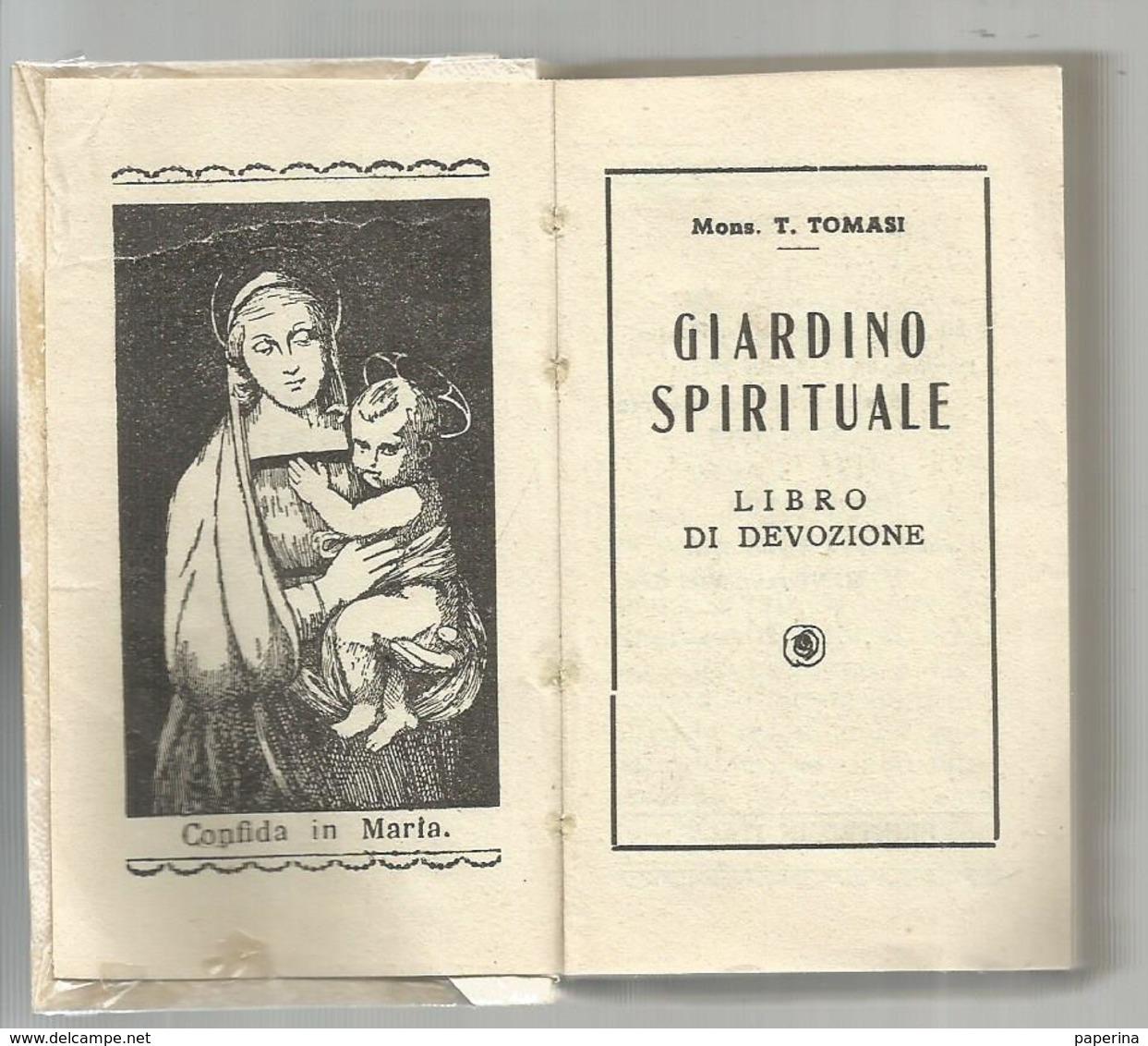 MONS. T. TOMASI - GIARDINO SPIRITUALE LIBRO DI DEVOZIONE (672) - Religione & Esoterismo
