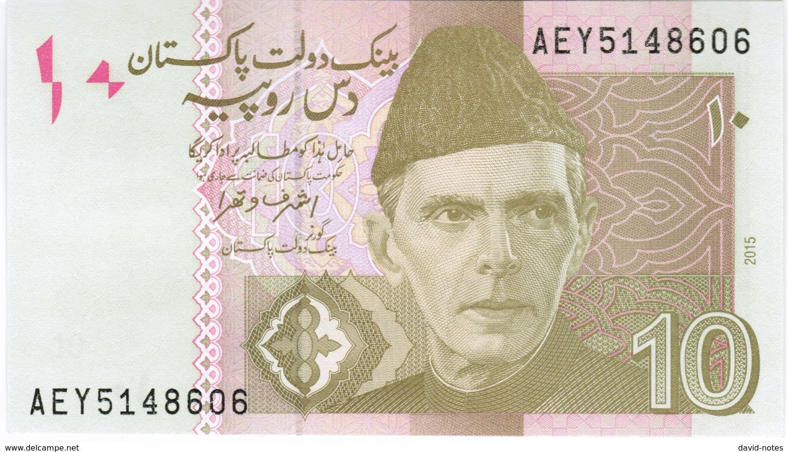 Pakistan - Pick 45j - 10 Rupees 2015 - Unc - Pakistan