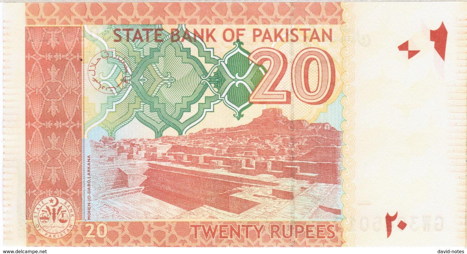 Pakistan - Pick 55i1 - 20 Rupees 2015 - Unc - Pakistan