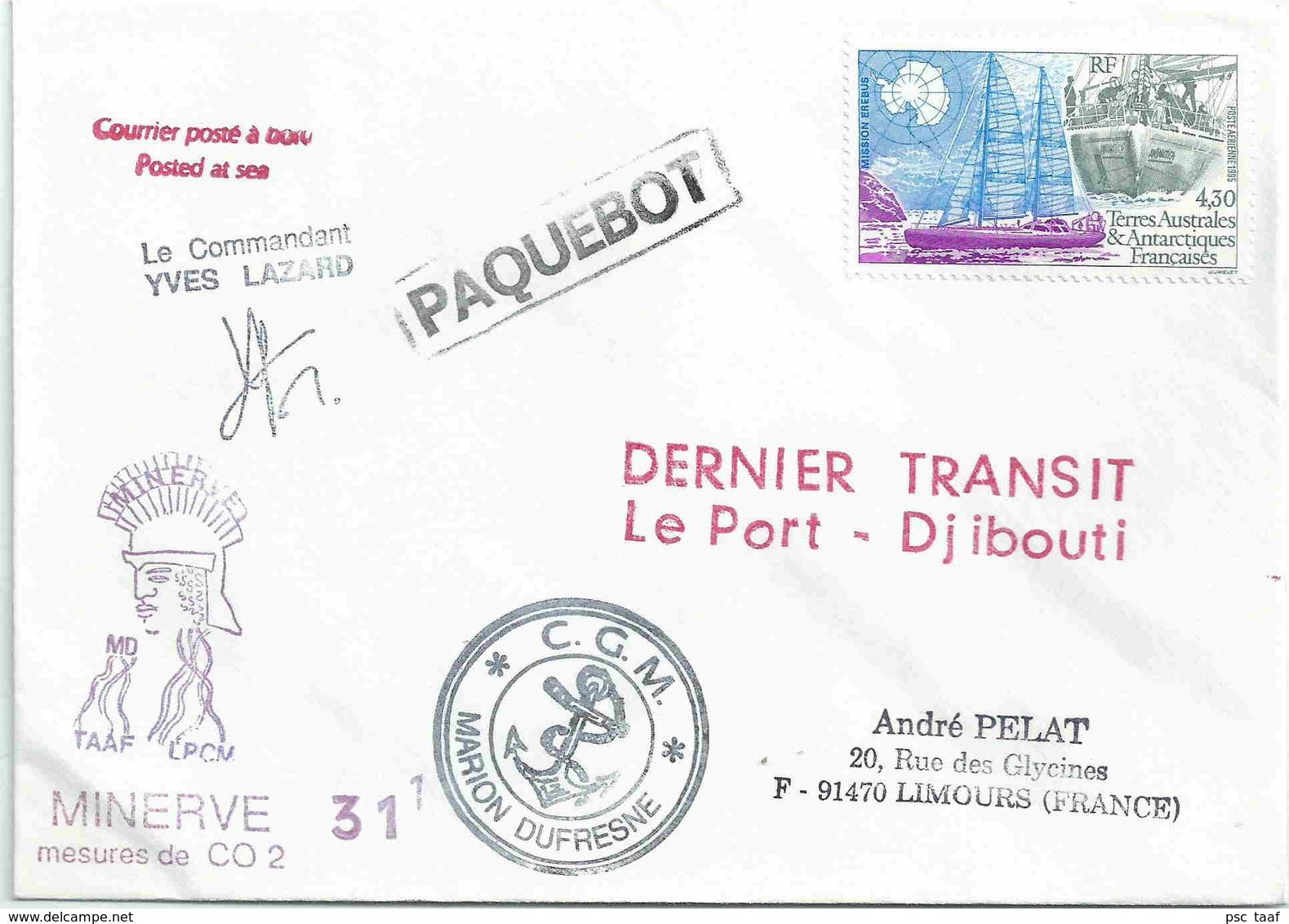 YT PA 134 - Bateau Antartica - Mission Erébus - Transit Du Marion Dufrsene Le Port - Djibouti - Terres Australes Et Antarctiques Françaises (TAAF)