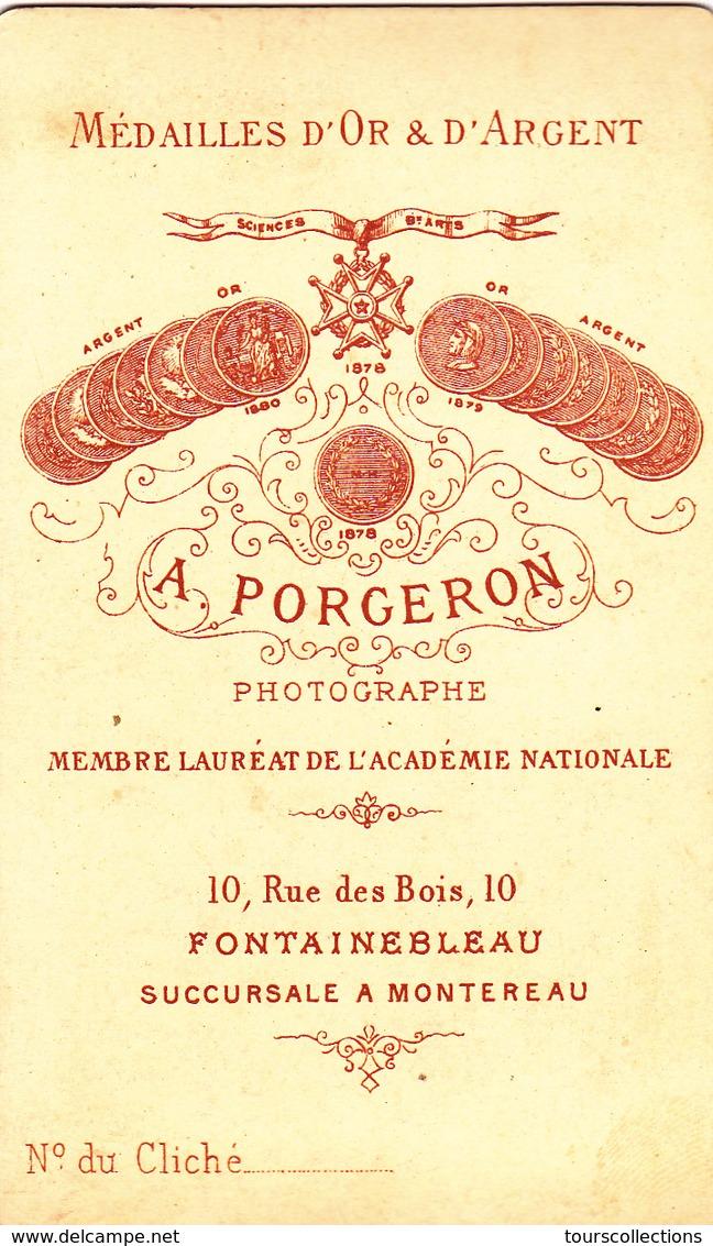 PHOTO 19° Siècle - Militaire - A. Forgeron Photographe à Fontainebleau Et Montereau @ 6,3 X 10,5 Cm - Guerre, Militaire