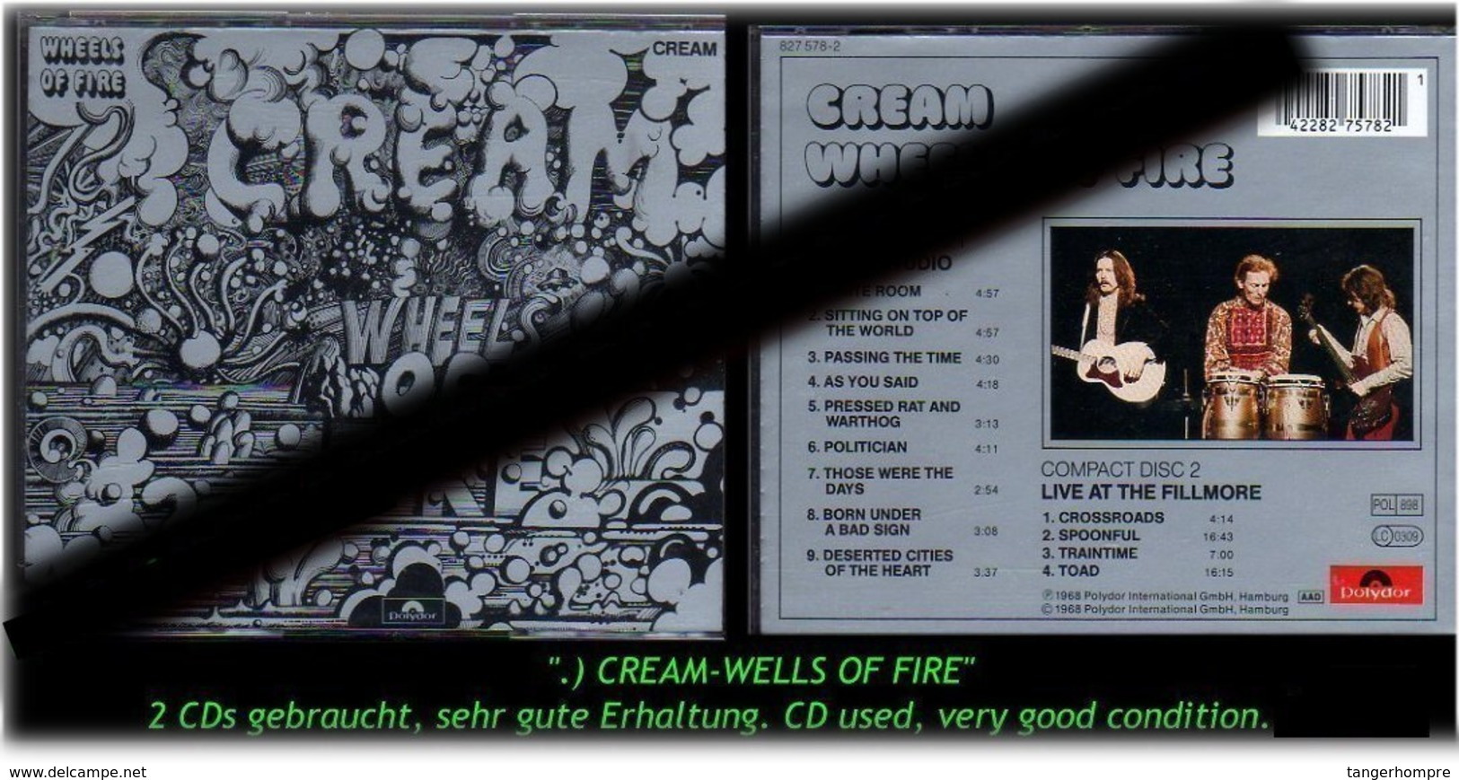 """CREAMS-WELLS-OF-FIRE"" 1968 -RR- - Hard Rock & Metal"