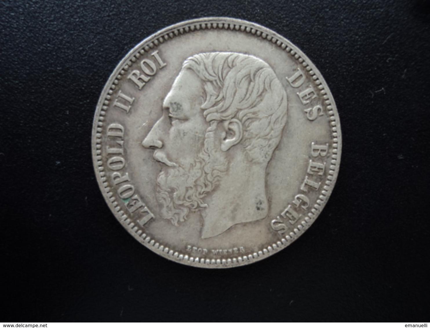 BELGIQUE : 5 FRANCS   1868  Tranche B *   KM 24    TTB - 09. 5 Francs