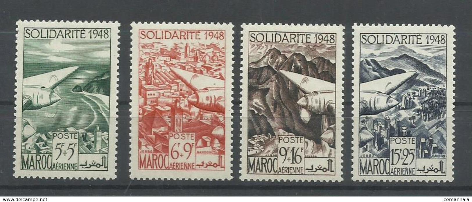 MARRUECOS YVERT AEREO  70/73   MH  * - Marruecos (1891-1956)