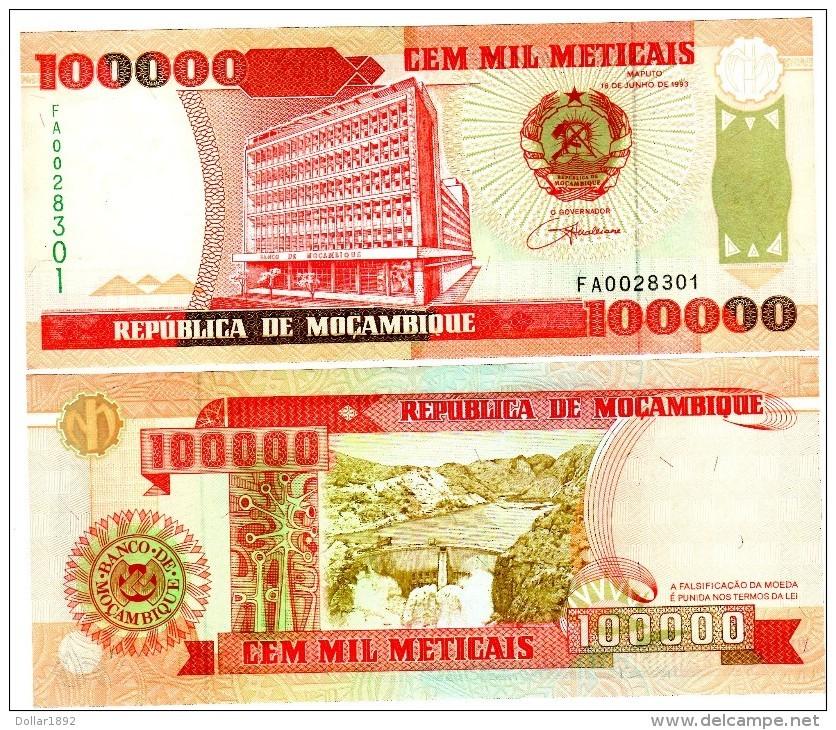 Mozambique Billet 100000 METICAIS 1993 P139 NEUF UNC - Mozambique