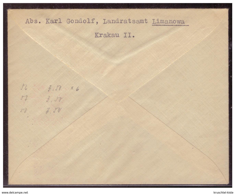 GG (005337) Satzbrief Mit MNR 56/ 58 Mit Seitenrand Gestempelt Am 15.12.1940 - Besetzungen 1938-45