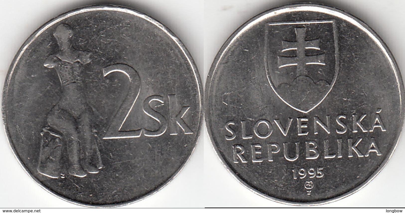 Slovacchia 2 Korun 1995 KM#13 - Used - Slovaquie