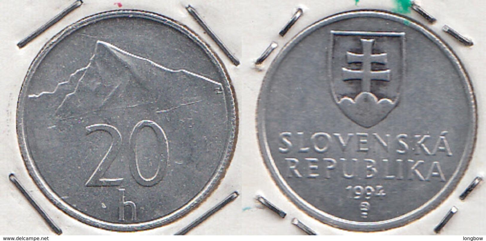 Slovacchia 20 Halier 1994 KM#18 - Used - Slovaquie