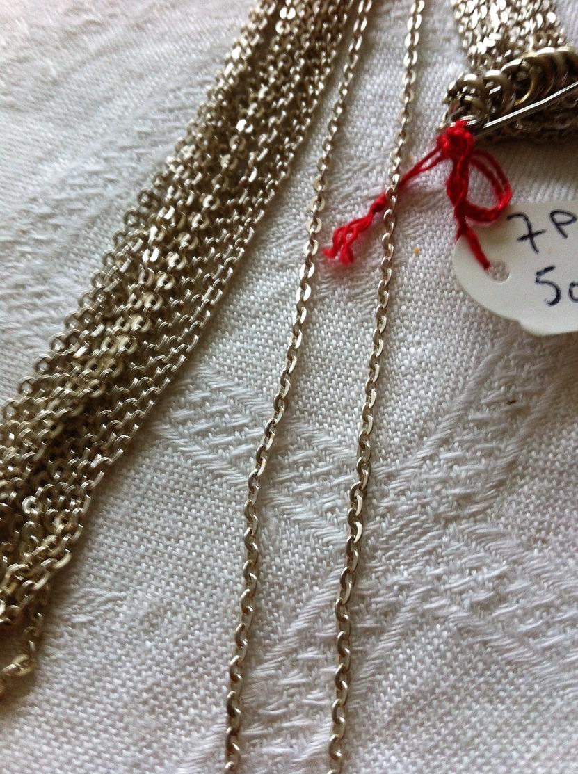 Chaine Argent,silver,longueur : 50 Cm - Colliers/Chaînes