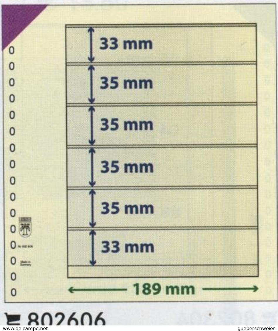 Paquet De 10 Feuilles Neutres Lindner T  Réf. 802606  à Moins 50 % - Albums & Reliures
