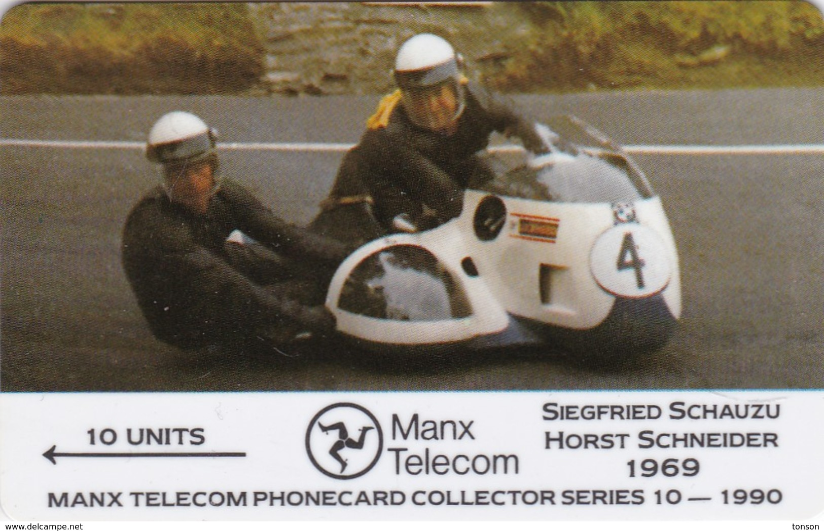 Isle Of Man, MAN 032, TT Racers 1990, Schauzu/Schneider, Mint, 2 Scans - Isla De Man