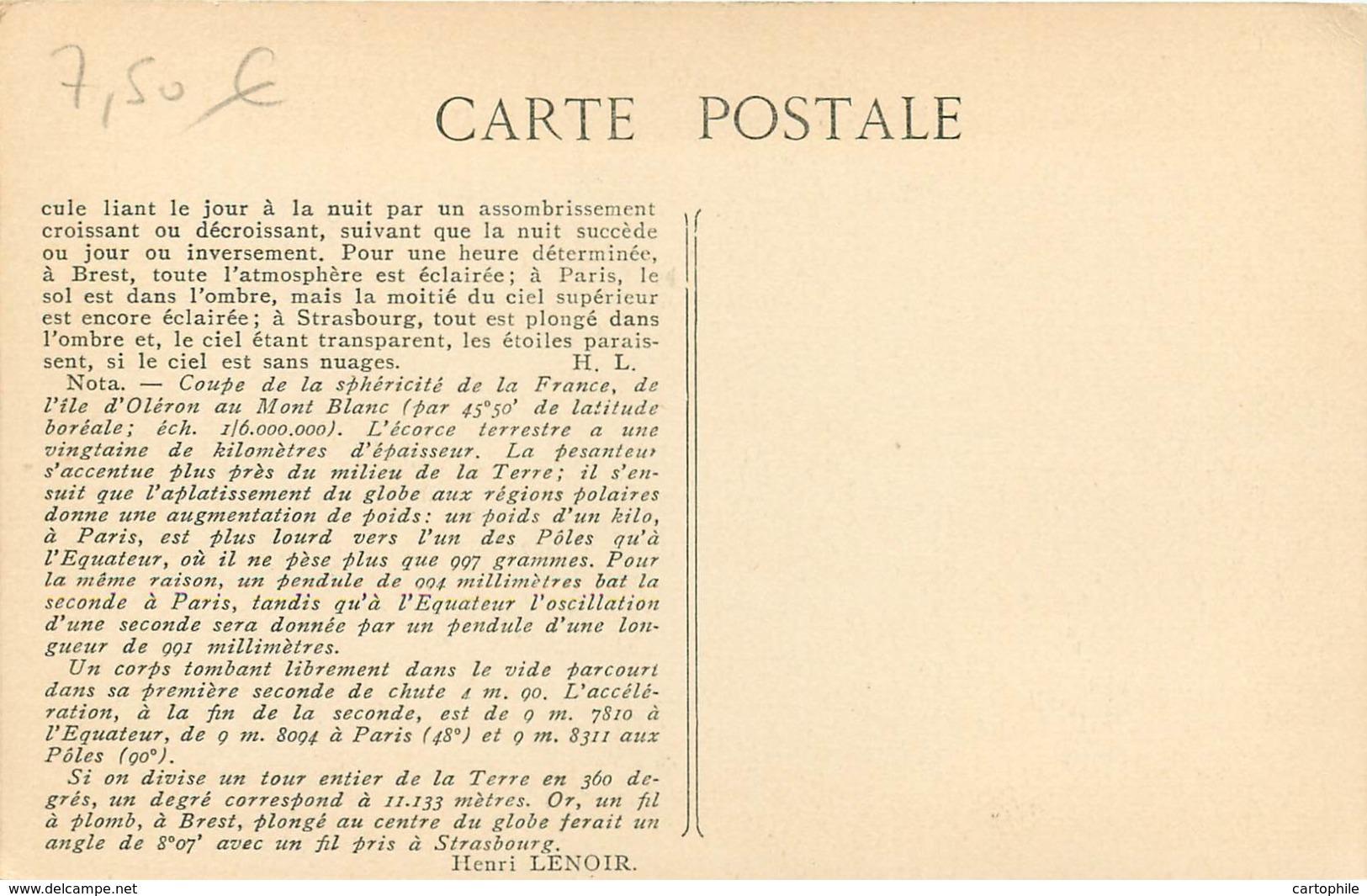 ASTRONOMIE - 3. Le Haut Et Le Bas - Théorie De La Pesanteur ! En Fait L'apesanteur... Par Henri LENOIR En 1912 - Astronomia