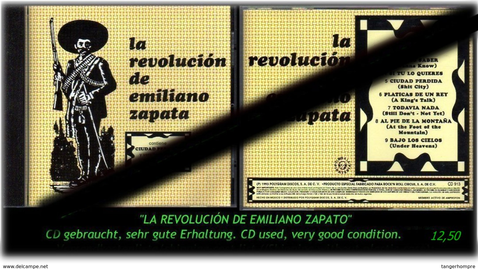 """LA REVOLUCION DE EMILIANO ZAPATO"" -1993 - - Hard Rock & Metal"