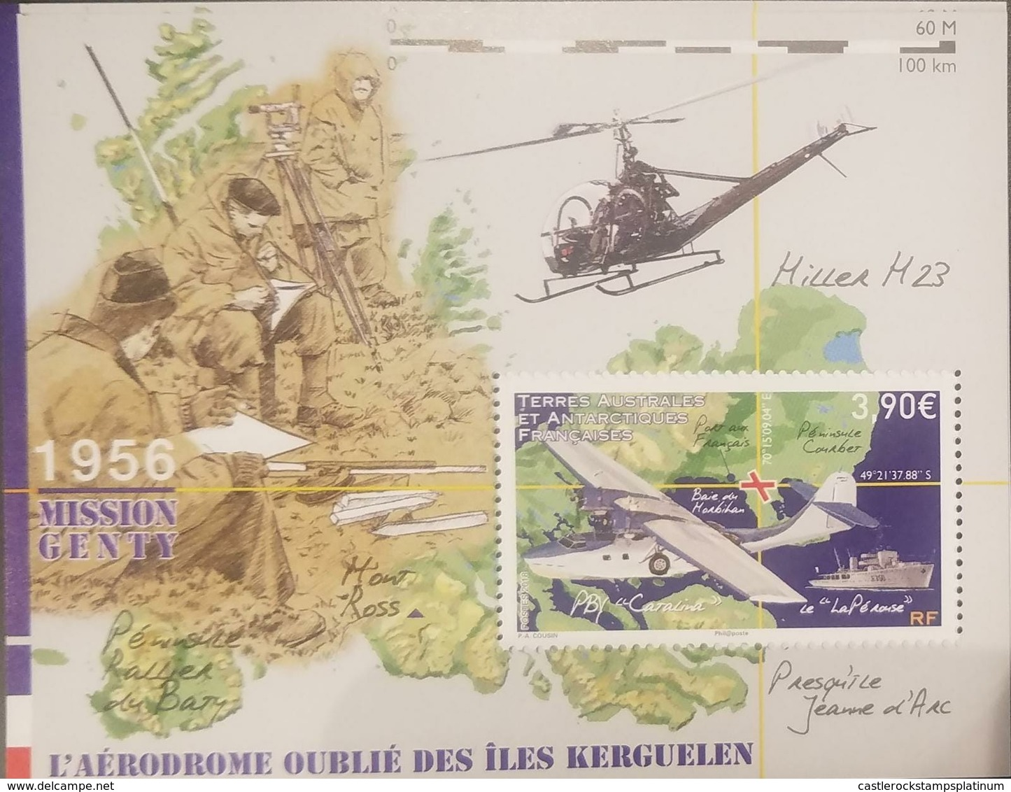 RL) 2018 FRENCH SOUTHERN AND ANTARCTIC LANDS, TAAF, MISSION GENTY, MAP, THE FORGOTTEN AERODROMES OF LLES KERGUELEN - French Southern And Antarctic Territories (TAAF)